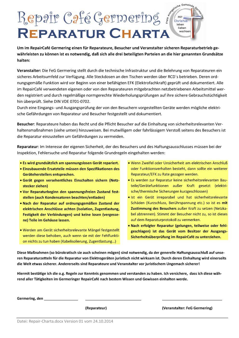 Repair-Charta