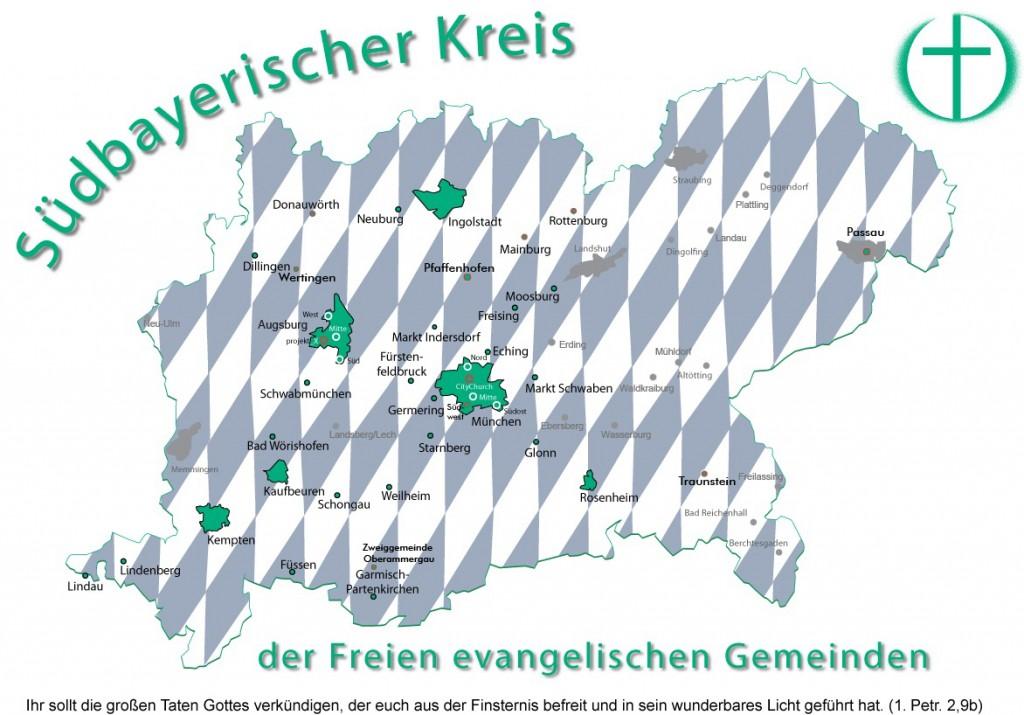 Kreiskarte Bayern